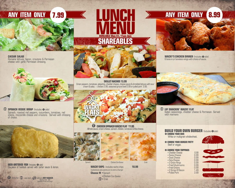 LUNCH MENU AVAILABLE FOR DINE IN ONLY